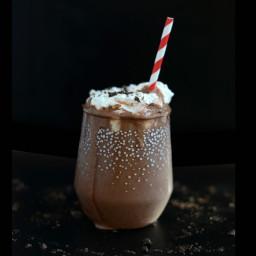 Dark Chocolate Peppermint Protein Shake