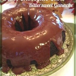 Decadent Dark Chocolate Cake with Bittersweet Ganache ~Gluten Free