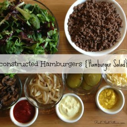 Deconstructed Hamburgers {Hamburger Salad}