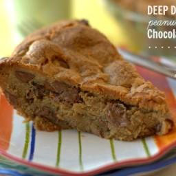Deep Dish Peanut Butter Chocolate Chip Pie