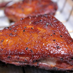 Delicious Beer Brined Smoked Chicken
