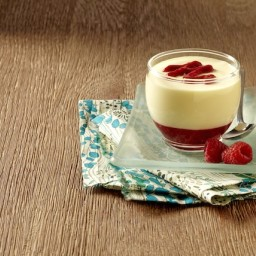 Delightful Lemon Mousse with Raspberry Sauce