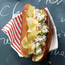 Deluxe Lobster and Potato Chip Rolls