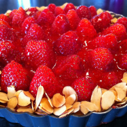 Dessert: Strawberry Almond Cream Tart