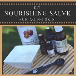 DIY Nourishing Salve for Aging Skin (aka Laughter Lines Salve)