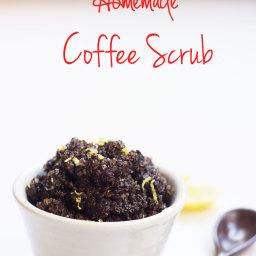 DIY Homemade Exfoliating Coffee Scrub
