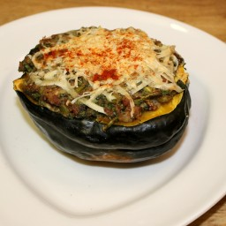 Doe's Ham and Spinach Stuffed Acorn Squash