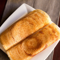 dosa made with rice flour and urad flour