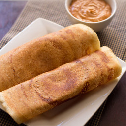 dosa made with rice flour & urad flour