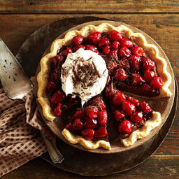 Double-Chocolate Mascarpone Raspberry Pie