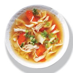 Double-Dark Chicken Noodle Soup