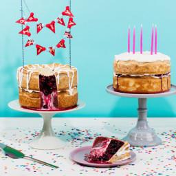 Double-Decker Chocolate and Cherry-Raspberry Birthday Pie