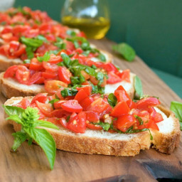 Recipes Course Appetizers Dips and Spreads Double Tomato Bruschetta