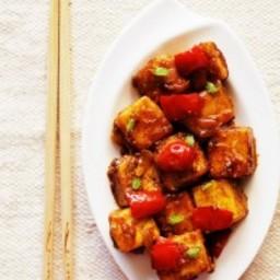 dry paneer manchurian recipe