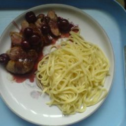 Duck Breast with Cherries And Mint