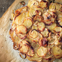 Duck Fat-Potato Galette with Caraway and Sweet Onions