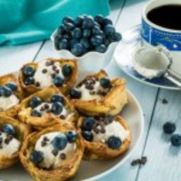 Easy Cannoli Stuffed French Toast Cups