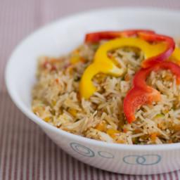 Easy Capsicum Fried Rice / Bell Pepper Rice Recipe