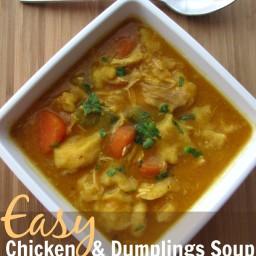 Easy Chicken Dumplings Soup with Pumpkin Recipe