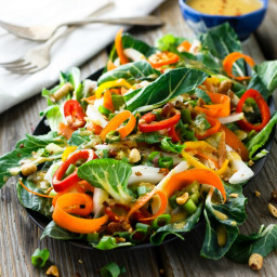 Easy, Fresh Bok Choy Salad Recipe with Asian Ginger Salad Dressing