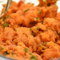 Easy Green Chile Sweet Potatoes (side)*