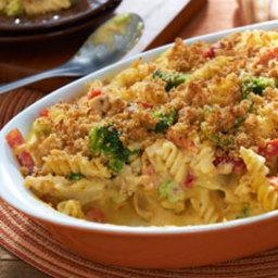 Easy Mac and Cheese Veggie Chicken Casserole