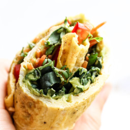 Easy Omelette Wraps with Avocado Crema