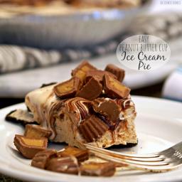 Easy Peanut Butter Cup Ice Cream Pie