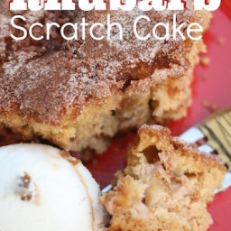 Easy Rhubarb Scratch Cake - a Delicious Summertime Treat