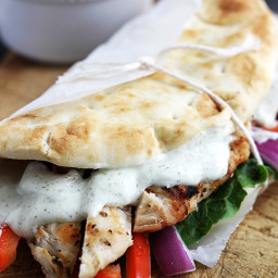 Easy Chicken Gyros  and  Tzatziki Sauce