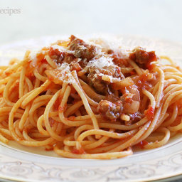 EASY Italian Sausage Spaghetti