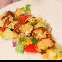 Easy Meals: Shrimp Taco's with a Baja Cream Sauce #SundaySupper #McSkilletS
