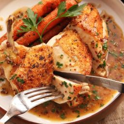 Easy Pan-Roasted Chicken Breasts With Bourbon-Mustard Pan Sauce