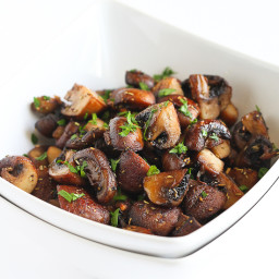 Easy Roasted Mushrooms with Rosemary  and  Garlic