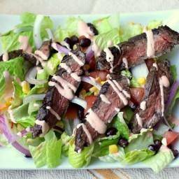 Easy Skirt Steak Taco Salad