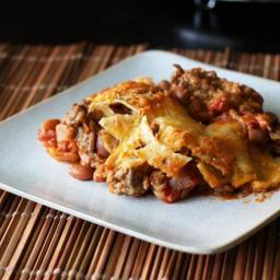 Easy Tex-Mex Chili Nacho Casserole