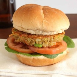 Edamame and Carrot Quinoa Burger Patties
