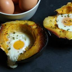 Egg Baked in Acorn Squash