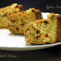 Eggless Fruit Cake ( No Milkmaid No Milk Powder Method)