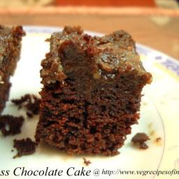 Eggless Chocolate Cake with Flaxseed