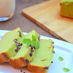 EGGLESS MATCHA BUTTERMILK POUND CAKE