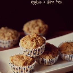 eggless whole wheat banana muffins