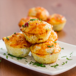 Egg Muffins with Bell Peppers and Salami