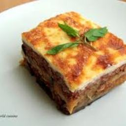 Eggplant Potato Moussaka with Pine Nut Cream