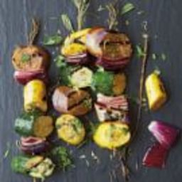 Eggplant, Zucchini and Squash Kabobs