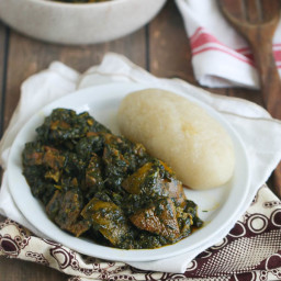 Eru Soup(Spinach/Okazi leaves)