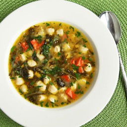 Escarole and Parmesan Soup With Chicken Meatballs