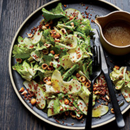 Escarole Salad with Red Quinoa and Hazelnuts