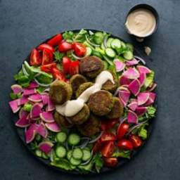 Falafel Salad with Lemon-Tahini Dressing