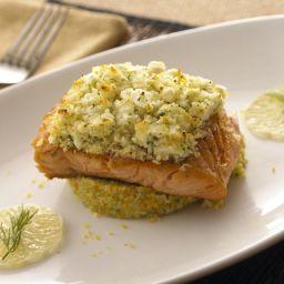 Fat Free Feta Encrusted Salmon